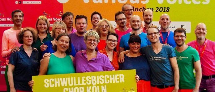 München; Der schwul-lesbische Chor Köln beim Various Voices Festival 2018